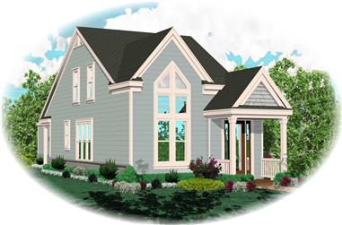 3-Bedroom, 1548 Sq Ft Vacation Homes House Plan - 170-1424 - Front Exterior
