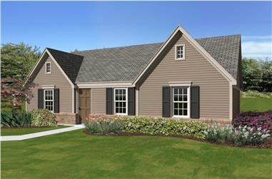 3-Bedroom, 1138 Sq Ft Small House Plans - 170-1435 - Front Exterior