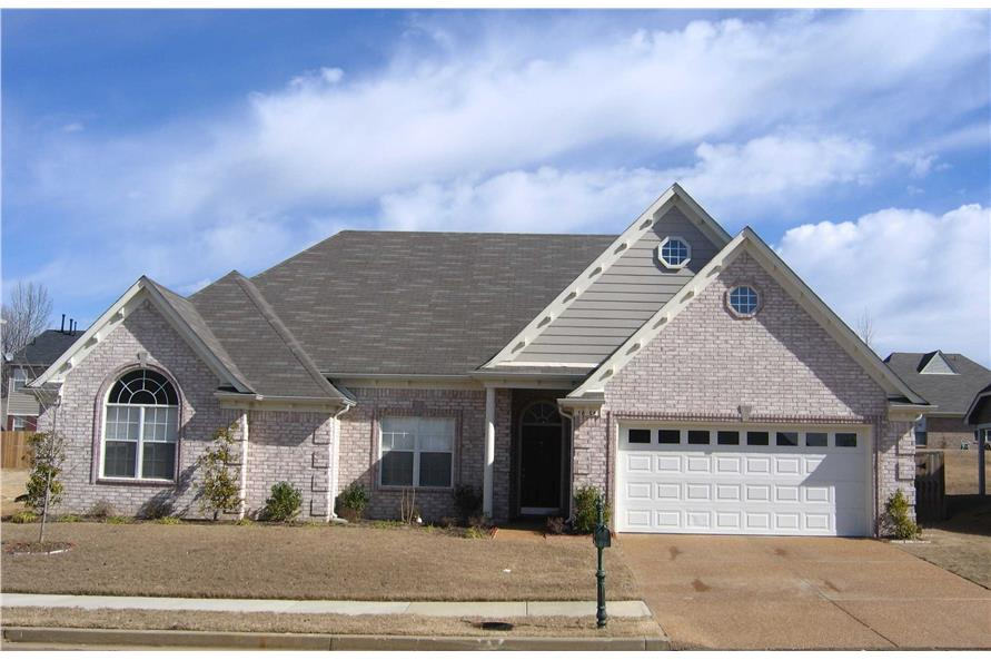 3-Bedroom, 2011 Sq Ft French Home Plan - 170-1443 - Main Exterior