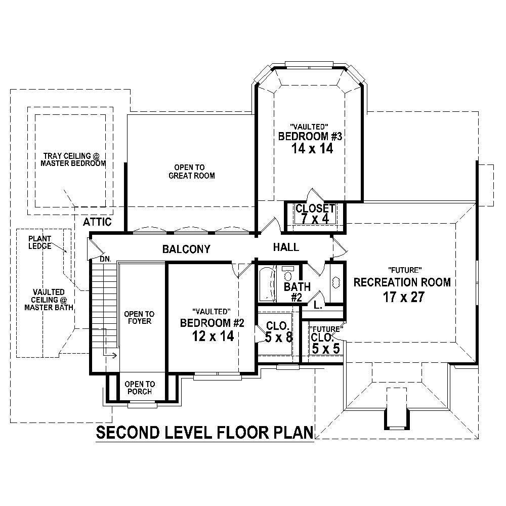 Large images for house plan 170 1451 for Second story floor plan