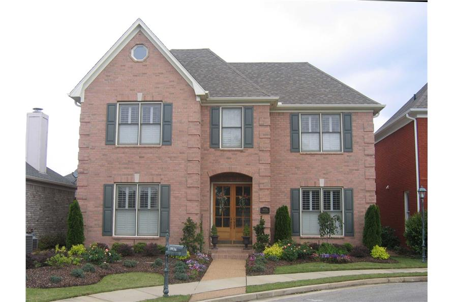 3-Bedroom, 2789 Sq Ft French House Plan - 170-1458 - Front Exterior