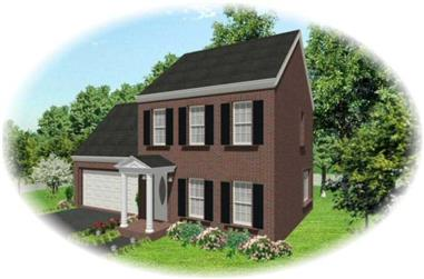 3-Bedroom, 1300 Sq Ft Small House Plans - 170-1476 - Front Exterior