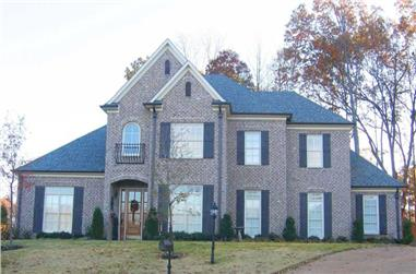 4-Bedroom, 3550 Sq Ft Southern Home Plan - 170-1498 - Main Exterior