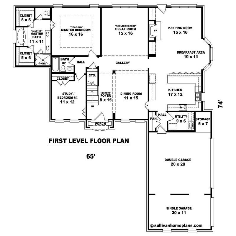 Southern house plans home design su 2241 576 1740 ft 20219 for 576 sq ft floor plan
