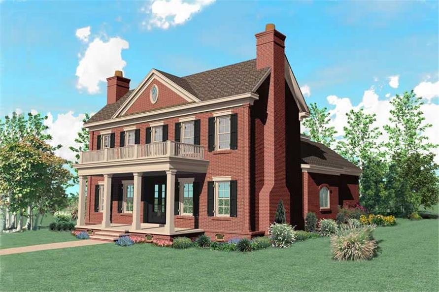 4-Bedroom, 5399 Sq Ft Colonial House Plan - 170-1513 - Front Exterior