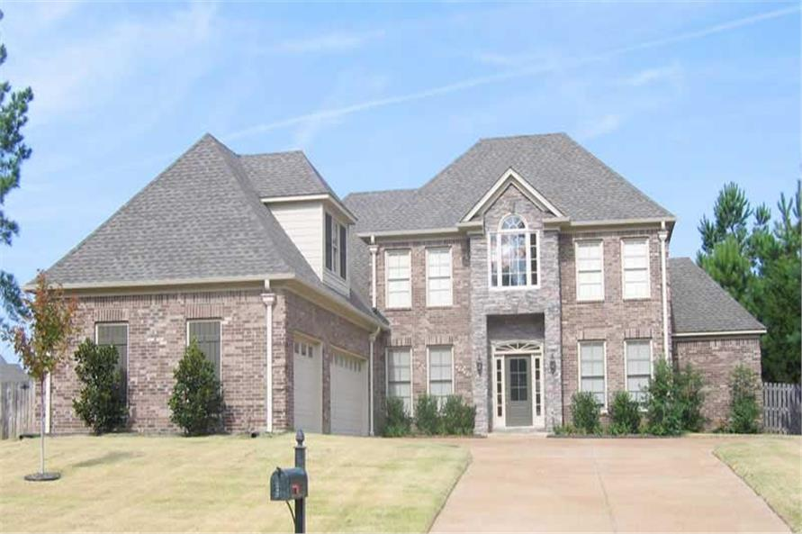 4-Bedroom, 3754 Sq Ft Southern House Plan - 170-1514 - Front Exterior