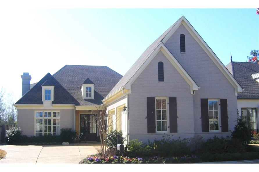 4-Bedroom, 3641 Sq Ft French House Plan - 170-1517 - Front Exterior