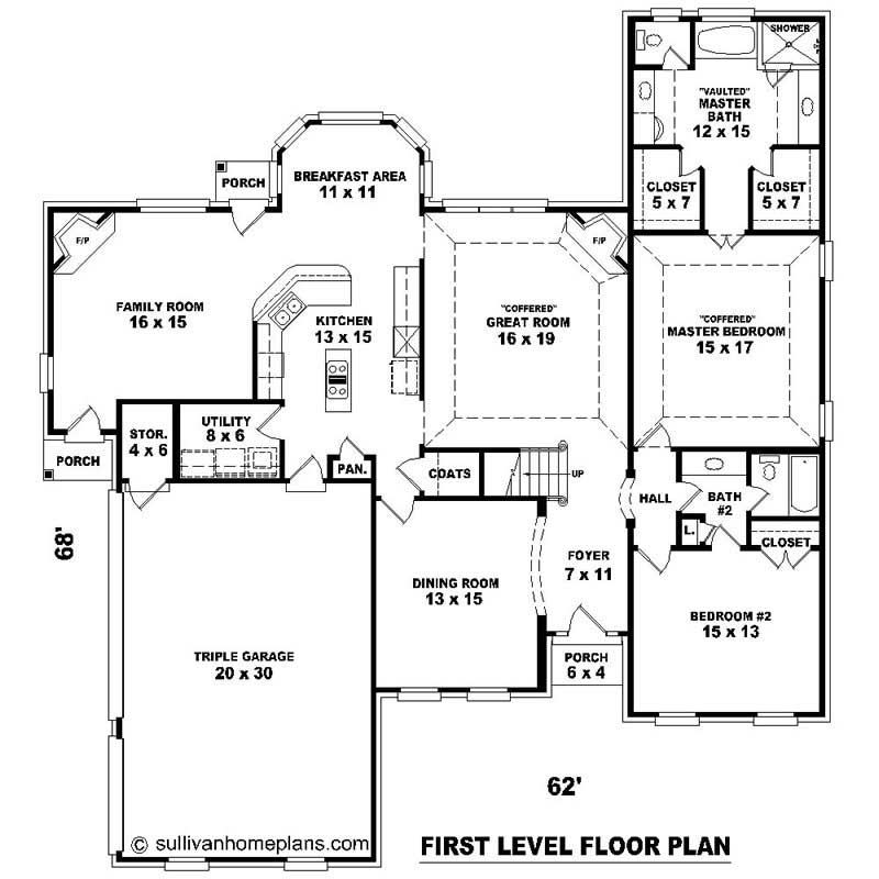 Southern House Plans Home Design Su 2394 1134 734 F 20329