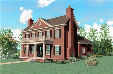4-Bedroom, 4281 Sq Ft Southern Home Plan - 170-1533 - Main Exterior