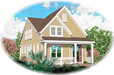 3-Bedroom, 1898 Sq Ft Cape Cod Home Plan - 170-1559 - Main Exterior