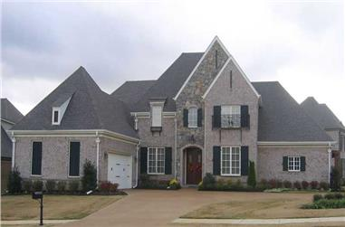 4-Bedroom, 3555 Sq Ft Southern House Plan - 170-1571 - Front Exterior