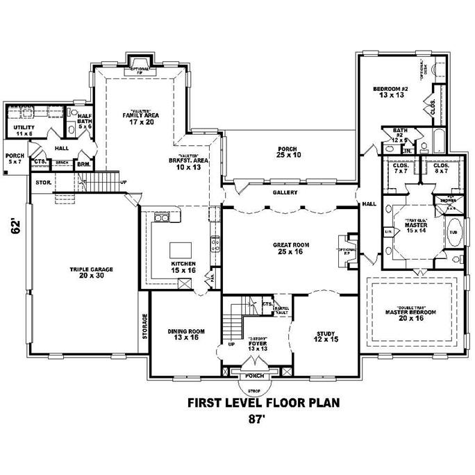 Exceptional ... Floor Plan First Story Of French Plan #170 1573 Amazing Design