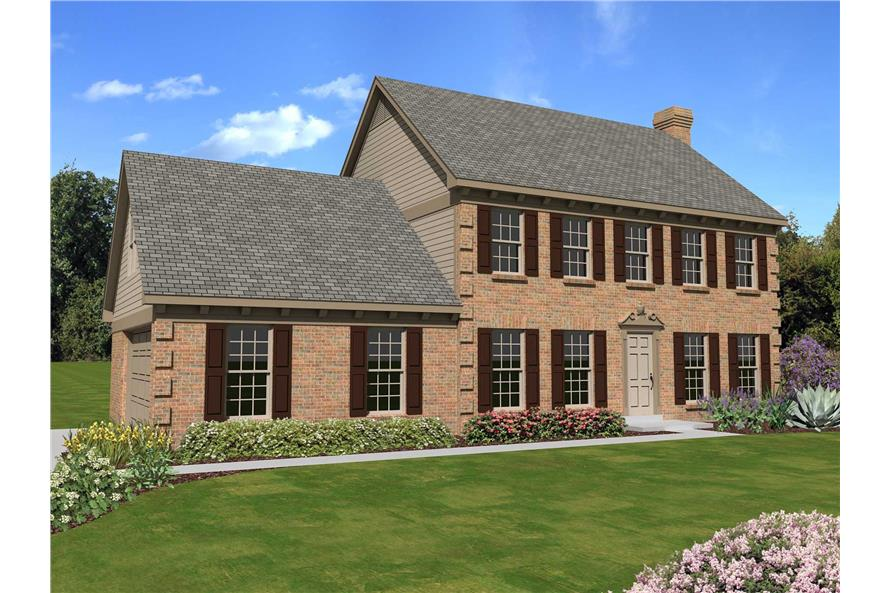 3-Bedroom, 2316 Sq Ft Georgian House Plan - 170-1587 - Front Exterior