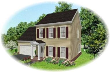 3-Bedroom, 1250 Sq Ft Country House Plan - 170-1588 - Front Exterior