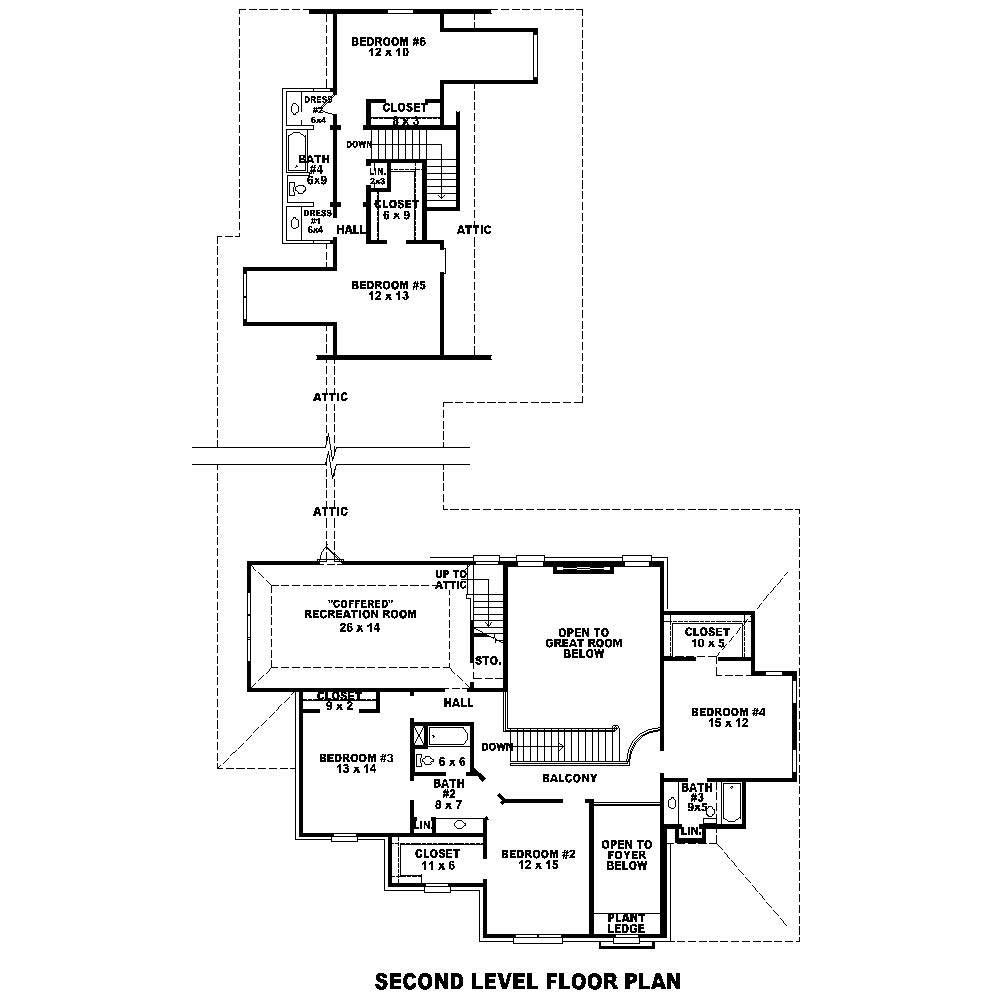 French house plan 6 bedrms 4 5 baths 6331 sq ft for Floor plan in french