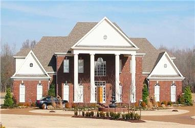 5-Bedroom, 5013 Sq Ft Luxury House Plan - 170-1597 - Front Exterior