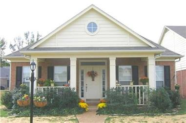 3-Bedroom, 1873 Sq Ft Southern House Plan - 170-1599 - Front Exterior