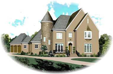 5-Bedroom, 5342 Sq Ft Country House Plan - 170-1600 - Front Exterior