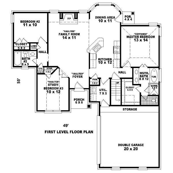 170-1604 house plan first floor