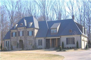 5-Bedroom, 6130 Sq Ft Country Home Plan - 170-1614 - Main Exterior