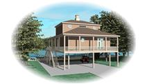 Color Rendering of house plan #170-1615