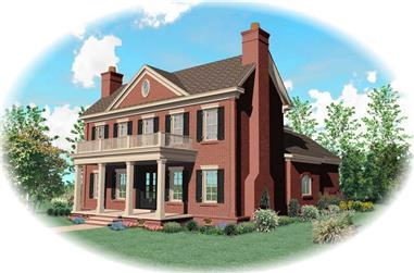 4-Bedroom, 4295 Sq Ft Southern House Plan - 170-1630 - Front Exterior