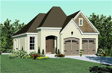 3-Bedroom, 1468 Sq Ft Country Home Plan - 170-1633 - Main Exterior