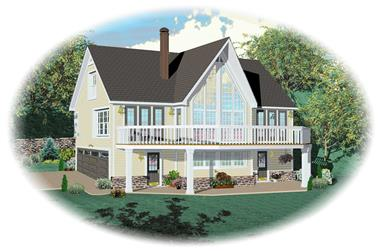 3-Bedroom, 1532 Sq Ft Coastal House Plan - 170-1635 - Front Exterior