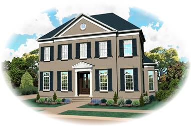 4-Bedroom, 3728 Sq Ft Luxury House Plan - 170-1637 - Front Exterior