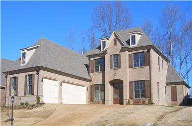 3-Bedroom, 3670 Sq Ft Country Home Plan - 170-1638 - Main Exterior