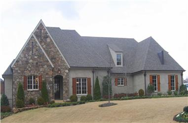 3-Bedroom, 3947 Sq Ft Country House Plan - 170-1642 - Front Exterior
