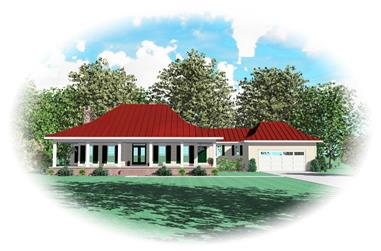 2-Bedroom, 2666 Sq Ft Country House Plan - 170-1643 - Front Exterior