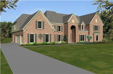 5-Bedroom, 5333 Sq Ft French House Plan - 170-1645 - Front Exterior