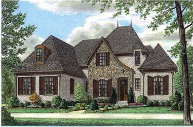 4-Bedroom, 4098 Sq Ft Country Home Plan - 170-1649 - Main Exterior