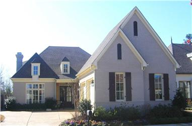 4-Bedroom, 3129 Sq Ft French Home Plan - 170-1650 - Main Exterior
