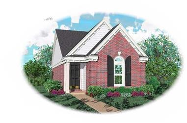 2-Bedroom, 1162 Sq Ft Bungalow Home Plan - 170-1661 - Main Exterior