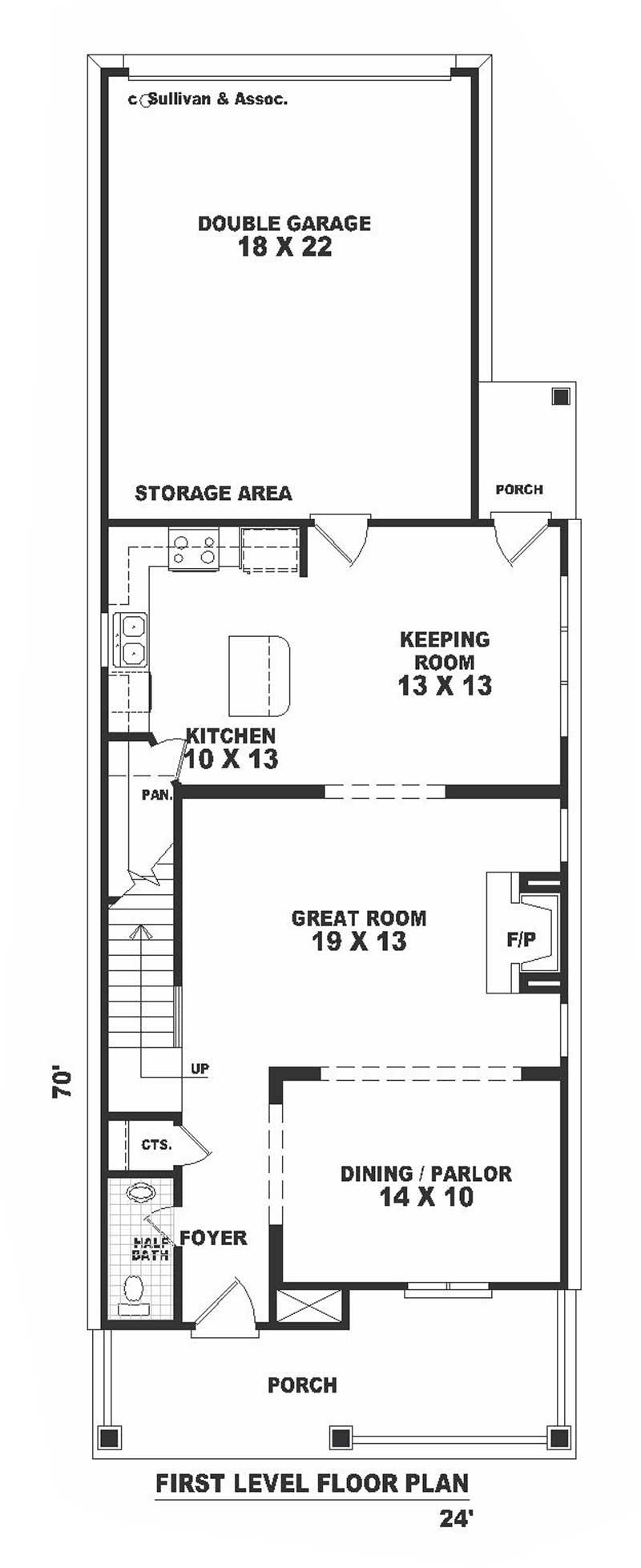 Multi level southern colonial house plans home design for Multi level floor plans