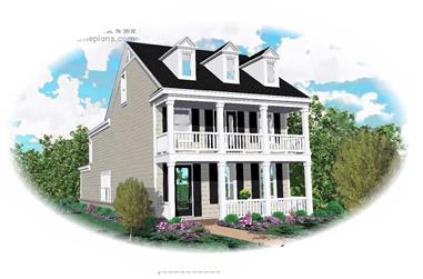 3-Bedroom, 2421 Sq Ft Colonial House Plan - 170-1667 - Front Exterior