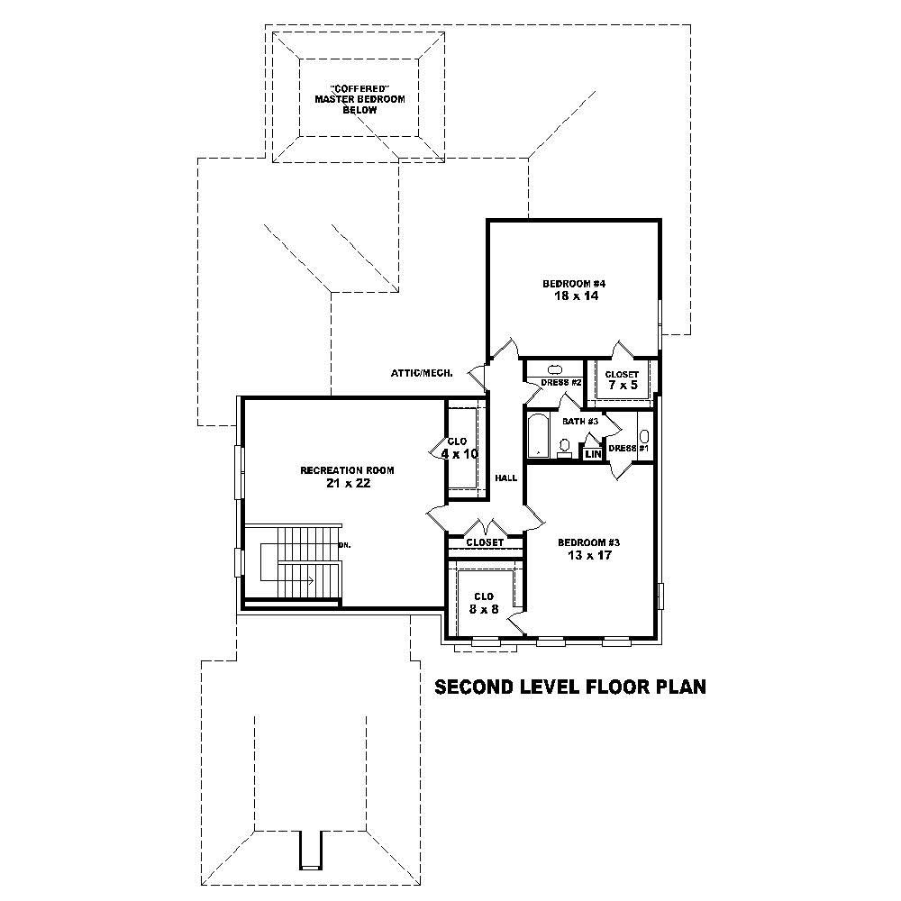 Traditional House Plans Home Design Su B2739 1351 925 T