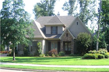 4-Bedroom, 3771 Sq Ft Country Home Plan - 170-1681 - Main Exterior