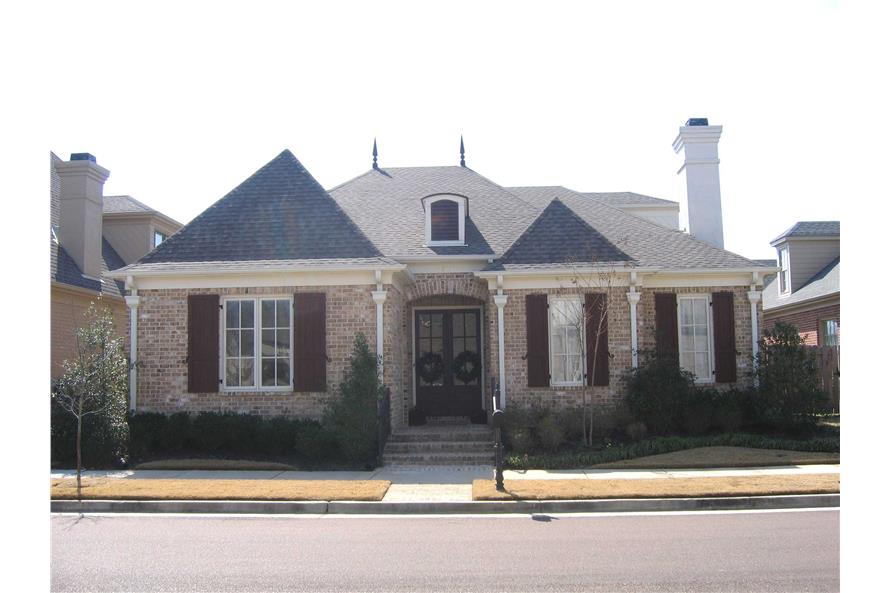 3-Bedroom, 3179 Sq Ft French Home Plan - 170-1686 - Main Exterior