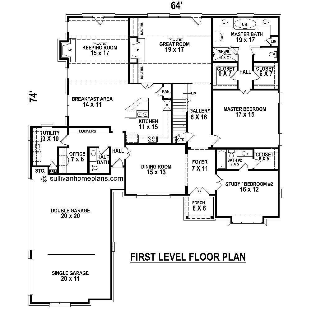French House Plans Home Design Su B2641 1808 1009 F