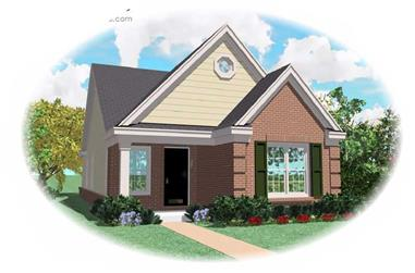 2-Bedroom, 1163 Sq Ft Craftsman Home Plan - 170-1696 - Main Exterior