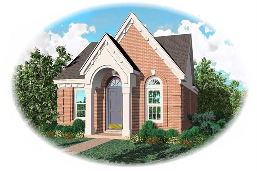 3-Bedroom, 1148 Sq Ft Bungalow Home Plan - 170-1697 - Main Exterior