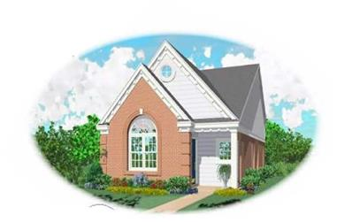 2-Bedroom, 1126 Sq Ft Bungalow Home Plan - 170-1698 - Main Exterior