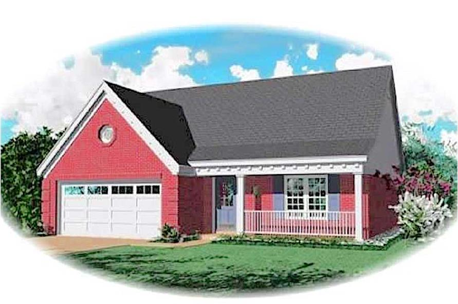 3-Bedroom, 1473 Sq Ft Transitional Home Plan - 170-1700 - Front Exterior