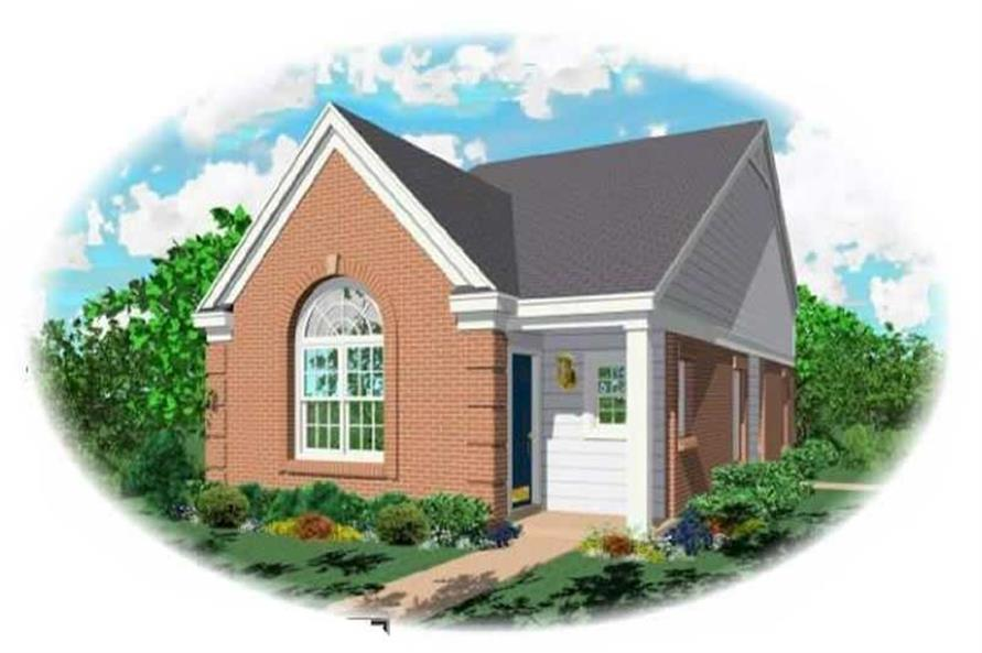 2-Bedroom, 1057 Sq Ft Bungalow House Plan - 170-1701 - Front Exterior