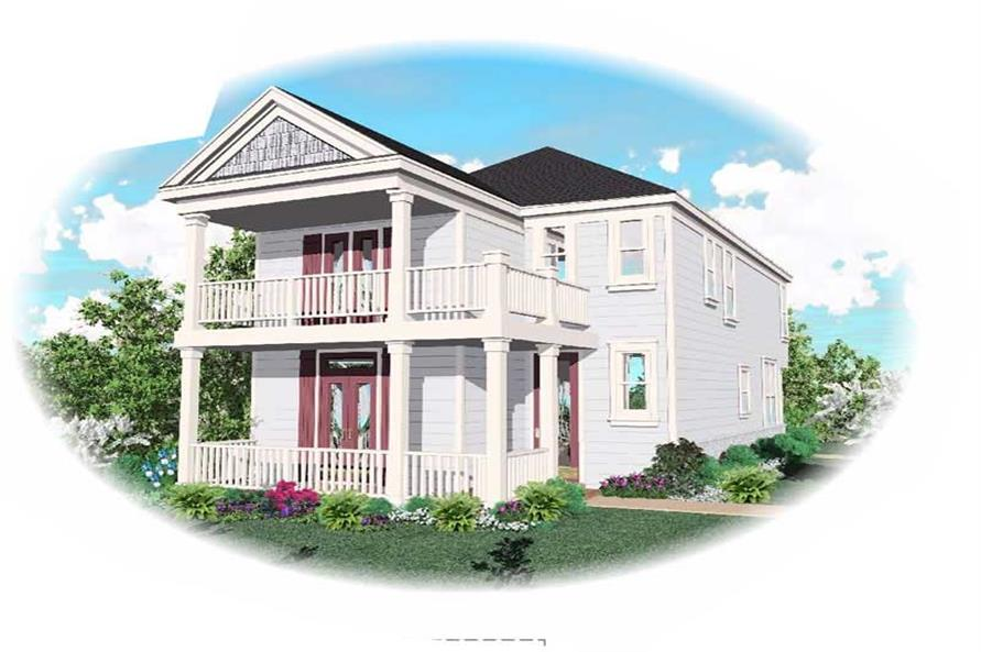 4-Bedroom, 1802 Sq Ft Colonial House Plan - 170-1707 - Front Exterior