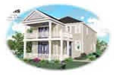 3-Bedroom, 1670 Sq Ft Multi-Level House Plan - 170-1708 - Front Exterior