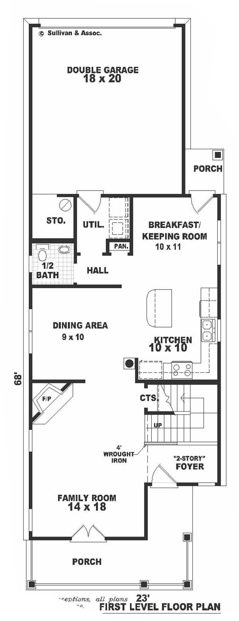 Multi level southern house plans home design b0926 720 for Multi level home floor plans
